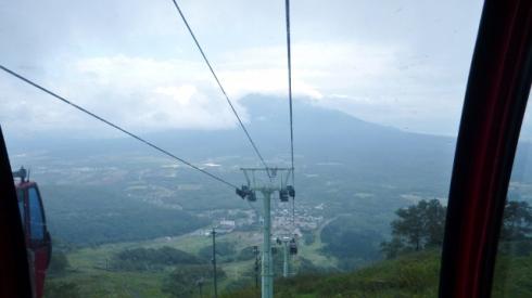View of Mt. Yotei from gondola (ゴンドラから見た羊蹄山)