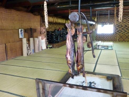 Inside Ainu house
