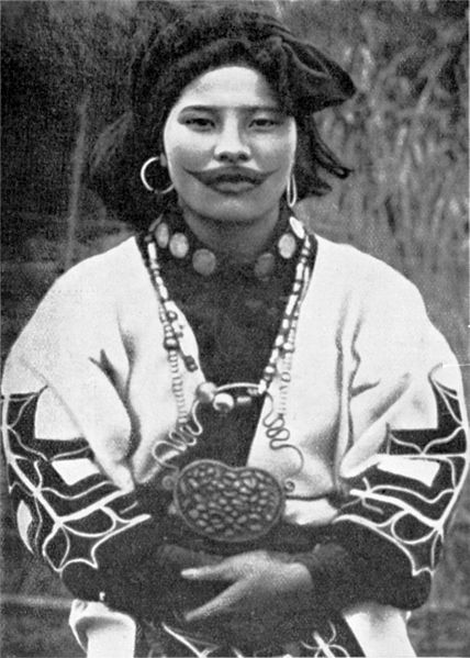 Tattooed Ainu woman Photo by PD