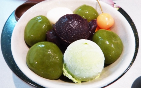 Uji Shiratama Cream Anmitsu (宇治白玉クリームあんみつ)