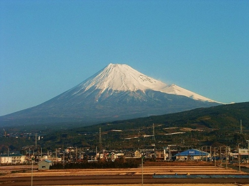View of Mt. Fuji from Tokaido Shinkansen Photo by Alexander Mirochnik, Under the Creative Common License