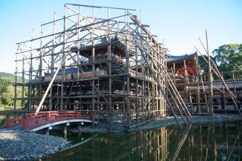 Byōdō-in under repair (Kyoto)